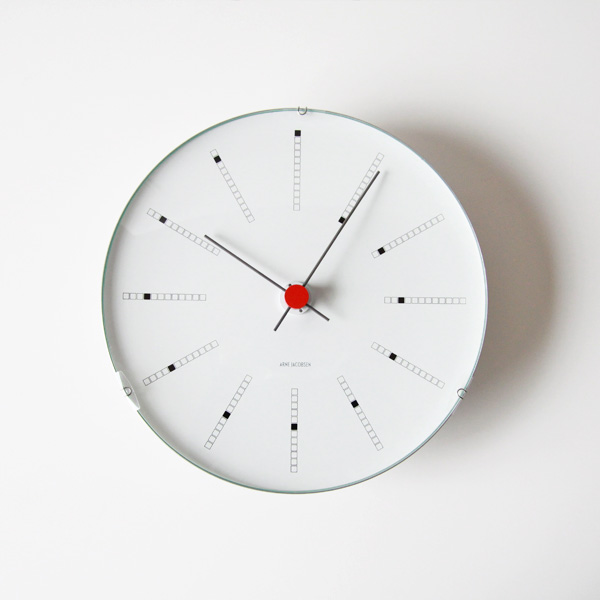 ARNE JACOBSEN Wall Clock Bankers 210mm