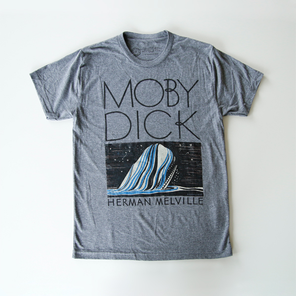 Tシャツ MOBY DICK「白鯨」-GRAY