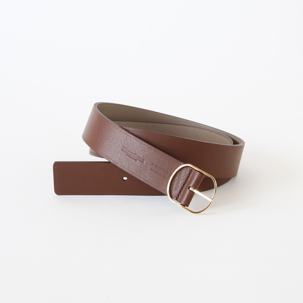 91355G 30mm REVERSIBLE BELT (COCOA/GABARDINE)