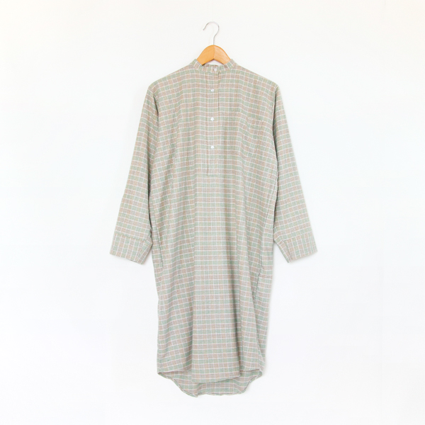 パジャマ LadiesButtoned CheckGreen