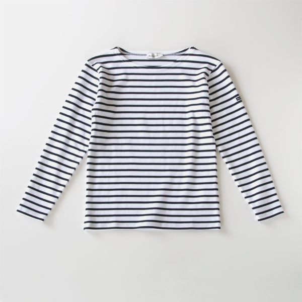 ボーダーカットソー STREIGHT FIT white/navy