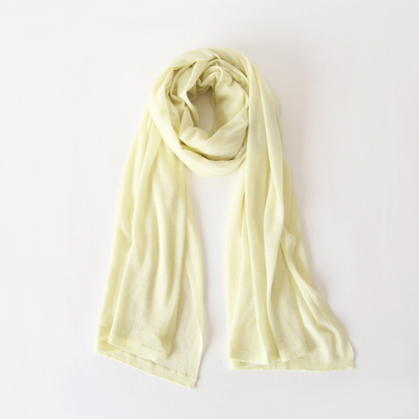AIRY WOOL ストール(YELLOW)
