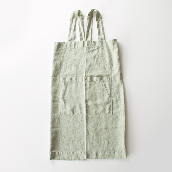 リネンエプロン Pinafore apron Colors(SAGE)