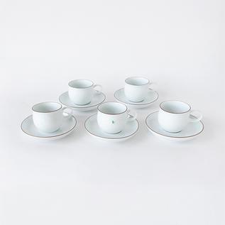 G型コーヒーカップ&ソーサー 5客セット