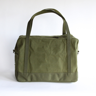 daily boston bag khaki