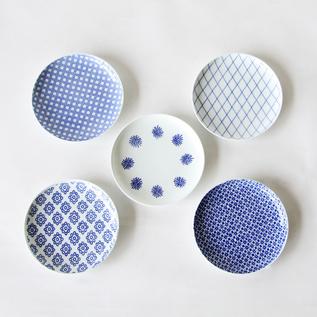 印判小皿 5枚セット