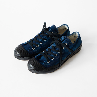 SHELLCAP LOW HAND DYE  INDIGO/BLACK