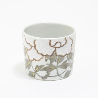 煎茶碗 金銀彩 草花