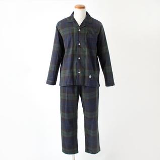 【別注】パジャマ パイピング チェック メンズ
