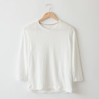 なめらか天竺8分袖Tシャツ