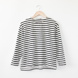 ミニパイルボーダーTシャツ