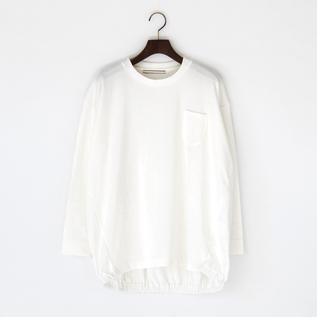 裾ギャザー 長袖Tシャツ