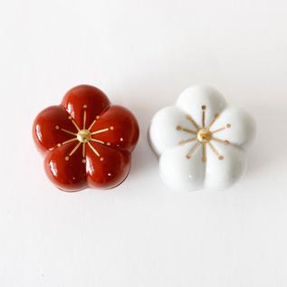 梅蓋物 紅白