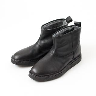 ショートブーツ AGIO30 LEATHER BLACK