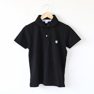 ポロシャツ ラウンドカラー Noir