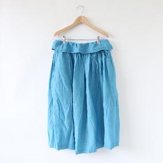 エアーシャンブレー ギャザースカート