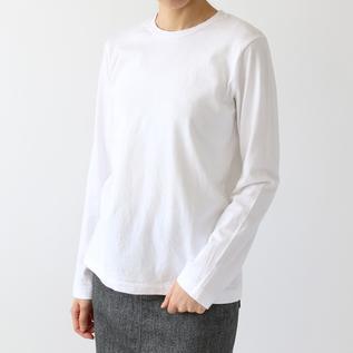 リネンコットン長袖Tシャツ