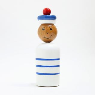 木製貯金箱 MARIN NAVY BOY WHITE(男の子)