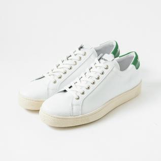 レザースニーカー ITOH CLASSIC WHITE-GREEN