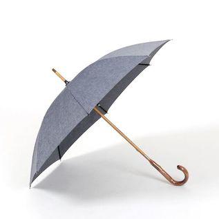 レディース晴雨兼用長傘 綿麻ヘリンボーン