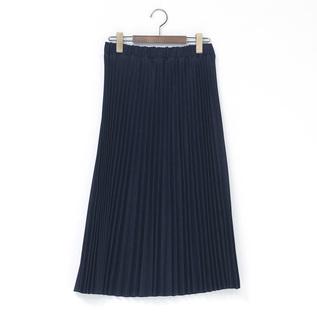 UK138201 デニム プリーツスカート IND