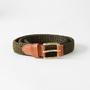 ベルト TUBE BELT-FIBER w/LEATHER ROLLER KHAKI