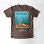 Tシャツ THE OLD MAN AND THE SEA「老人と海」-BROWN