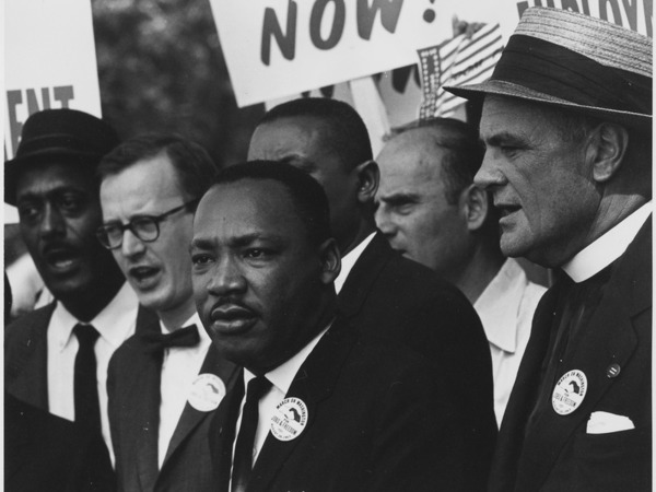 Thumb lossy page1 800px civil rights march on washington d.c. dr. martin luther king jr. and mathew ahmann in a crowd.   nara   542015.tif