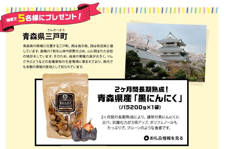 青森県三戸町「黒にんにく」