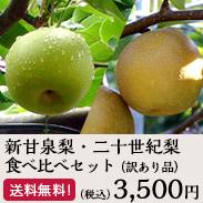 新甘泉梨・二十世紀梨食べ比べセット(訳あり品)