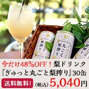 今だけ 超お買得!!梨ドリンク『ぎゅっと丸ごと梨搾り』30缶1ケース 通常価格の48%OFF