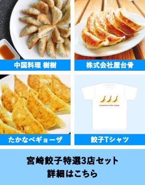 宮崎餃子特選3店セット