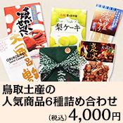 鳥取土産の人気商品6種詰め合わせ