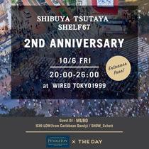 渋谷のランドマーク「渋谷TSUTAYA SHELF67」にてオープン2周年に合わせて、ペンドルトンが空間演出します。