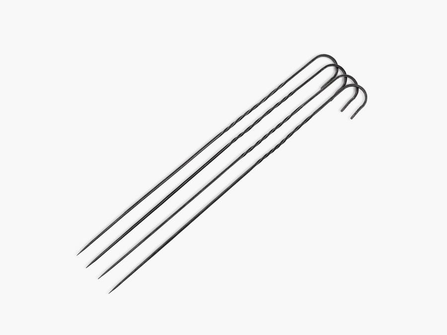 カウボーイ グリル スチール 焼き串 4本セット