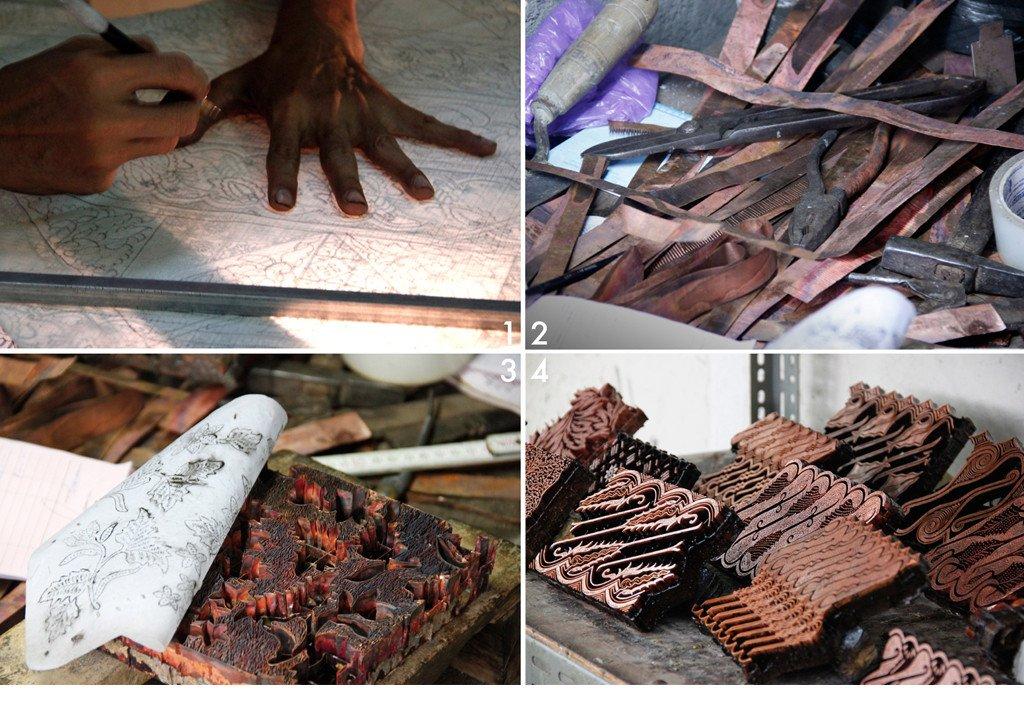 Handmade batik process | Block printing