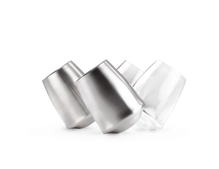 GLACIER STAINLESS STEMLESS WINE GLASS