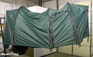 テントの乾燥
