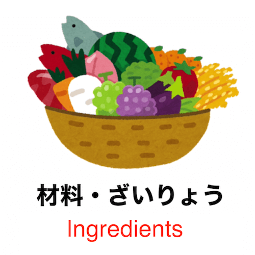90 seconds to learn Japanese vocabulary - Theme: Cooking!