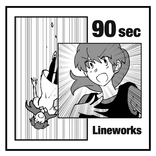 Learn how to use lineworks effectively in manga in 90 seconds