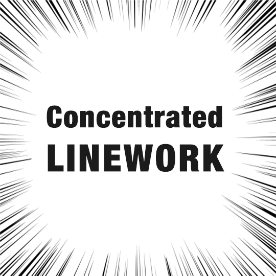 Learn how to draw concentrated linework in 90 seconds
