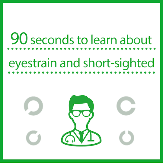 Learn about eyestrain and short-sightedness in 90 seconds