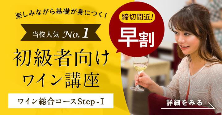 全20回 楽しく、美味しくワインを学べる講座 ワイン総合コース Step-Ⅰ