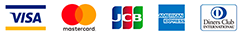 VISA・MasterCard・JCB・American Express