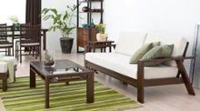 【特集】12年間ロングセラーを誇る ダークブラウン×木製フレームのウッドソファ