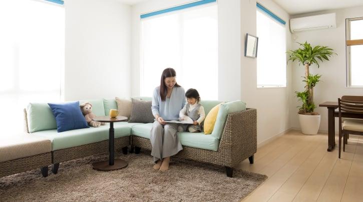 【インテリア実例】家族で楽しむ北欧風リビングダイニング(LDK)
