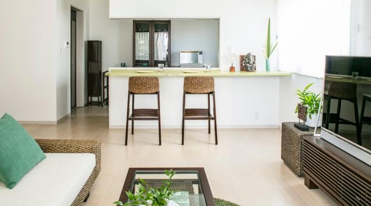 島リゾートを感じる、セカンドハウスの家具・インテリア実例