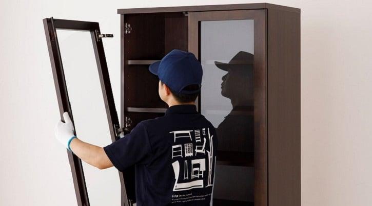 a.flatの食器棚・レンジ台~もしもの場合も修理ができて長く使える~