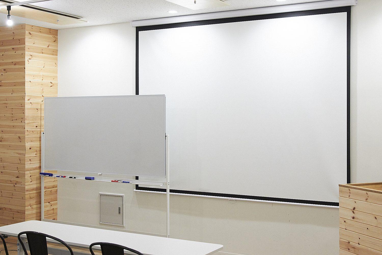 みんなの会議室 品川B | スクリーン、ホワイトボード