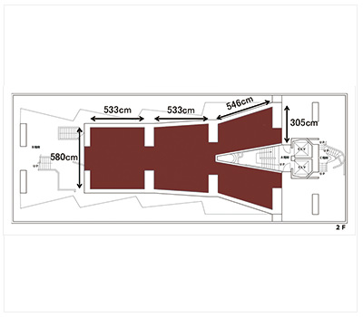 GUNKAN アトリエ2階 (ID:10048) 図面|TIME SHARING|タイムシェアリング |スペースマネジメント|あどばる|adval